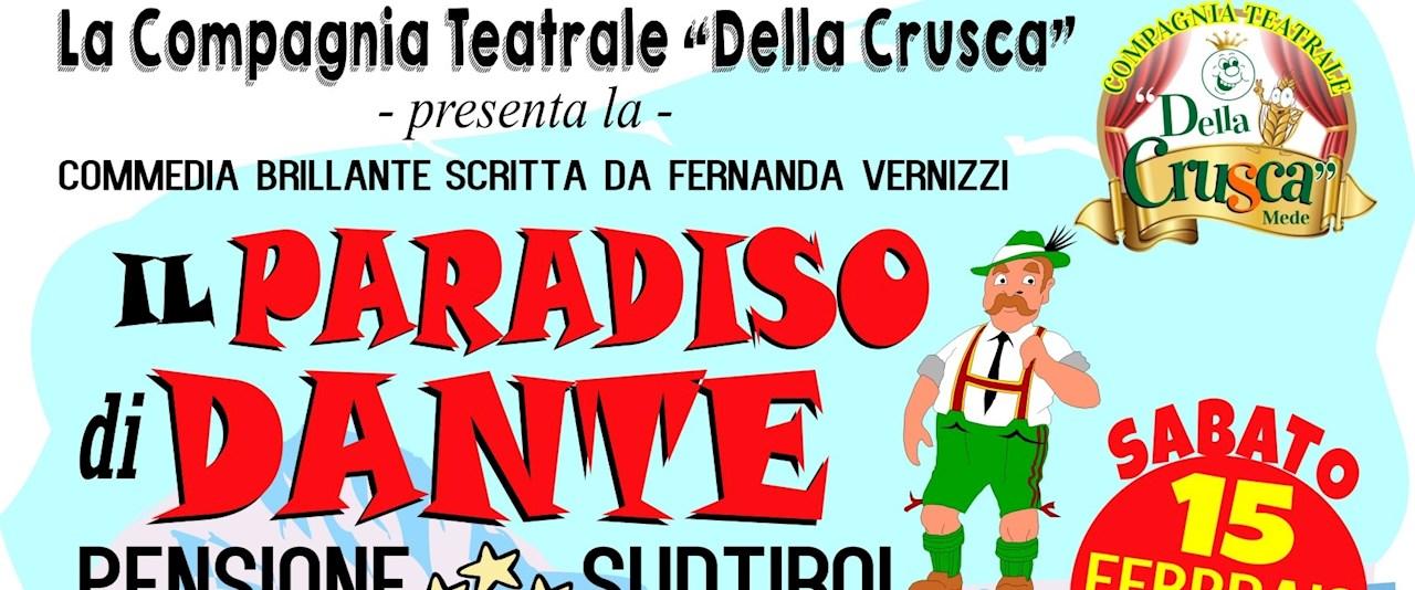 """<a href='dettagli.aspx?c=1&sc=3&id=55&tbl=eventi'><div class='slide_title'><h3>COMMEDIA """"IL PARADISO DI DANTE""""</h3></div><div class='slide_text'><span>SABATO 15 FEBBRAIO 2020 ORE 21,00 - La compagnia teatrale """"Della Crusca"""" presenta la commedia brillante """"Il Paradiso di Dante - Pensione Südtirol"""" info prenotazioni e pre-vendita biglietti presso  ...</span></div></a>"""